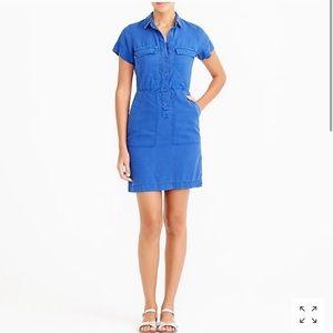 J. Crew Drapey Oxford Dress | size 0